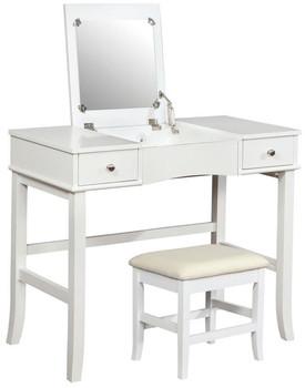 Dora Lift-Mirror Vanity with Stool