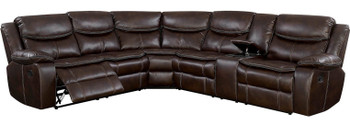 "Stevan Brown 123"" Wide Reclining Sectional"