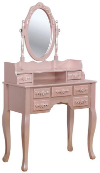 Koleyna Rose Gold Vanity w/ Stool