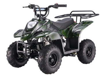 Private Green Camo 110cc ATV- Small Size