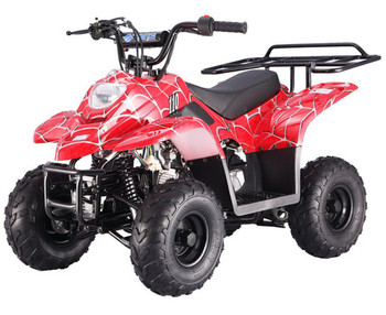 PRIVATE Spider Red 110cc ATV- Small Size