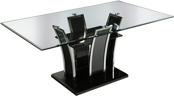 "Heizer Black 72"" Wide Dining Table"