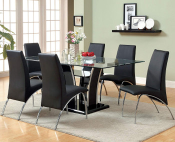Heizer Black 7 Piece Dining Set