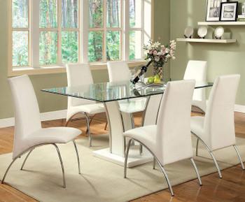 Heizer White 7 Piece Dining Set