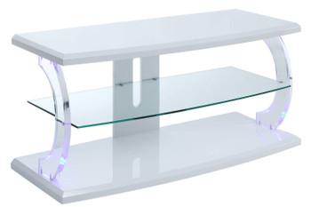 Eero White LED Medium TV Stand