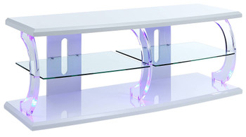Eero White LED Large TV Stand