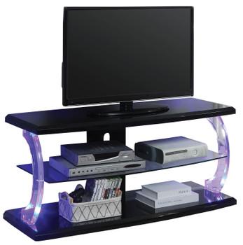 Eero Black LED Medium TV Stand