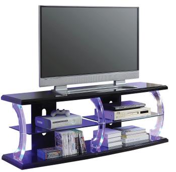 Eero Black LED Large TV Stand