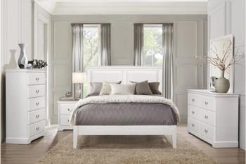 MELVIN White Bedroom Set