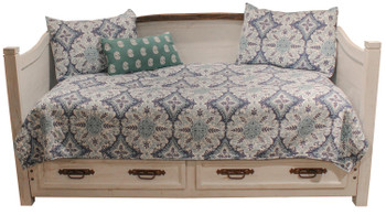 Colima Distressed White Pine Wood Daybed