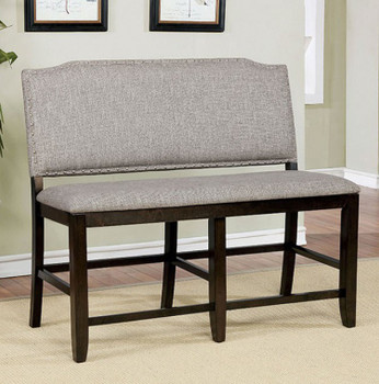 Ovette Gray Counter Height Bench
