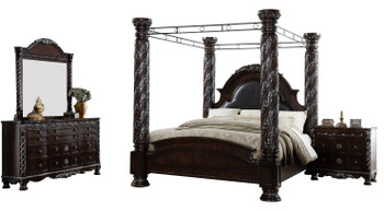 KINGSTON Brown Poster Canopy Bedroom