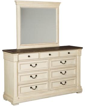 """Fleming White 65"""" Wide Dresser & Mirror"""