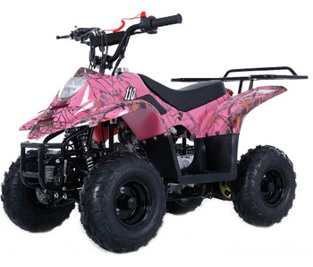 Private Pink Camo 110cc ATV- Small Size