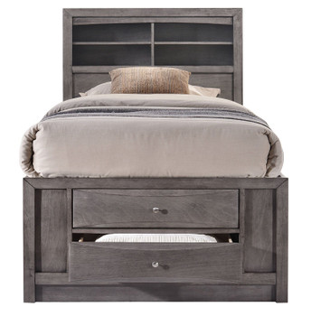 Watson Youth Gray Storage Bed