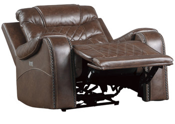 Emperor Brown Suede Powered Recliner Chair