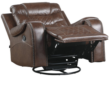 Emperor Brown Suede Recliner Chair