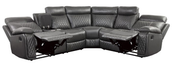 Anais Grey Reclining Sectional