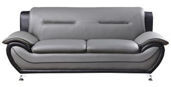 ZAIDEN Gray & Black 3-PC Livingroom Set