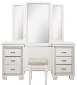 Annie White Vanity With Mirror