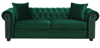 Isadora Green Sofa & Loveseat