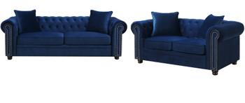 ISADORA Navy Blue Sofa & Loveseat