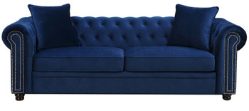Isadora Navy Blue Sofa & Loveseat