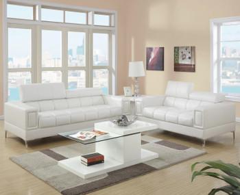 JERMEI White Livingroom Set
