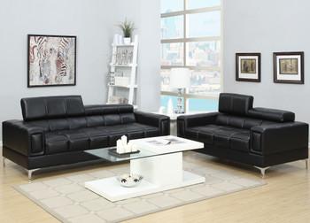 JERMEI Black Livingroom Set