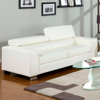 "Temre White 84"" Wide Sofa"