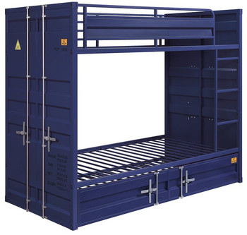 Blue Container Twin over Twin Bunkbed