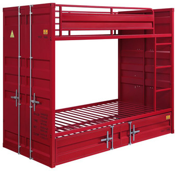 Red Container Twin over Twin Bunkbed