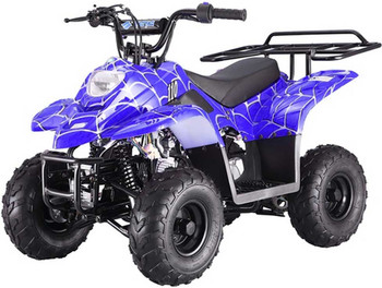 Private Spider Blue 110cc ATV- Small Size