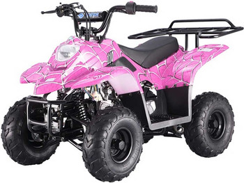 Private Spider Pink 110cc ATV- Small Size
