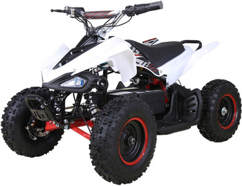 Talon White/Red Electric ATV-  Youth/Kids