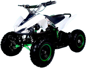 Talon White/Green Electric ATV- Youth/Kids