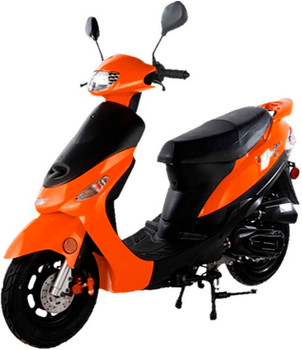 Nebula Orange 50cc Scooter