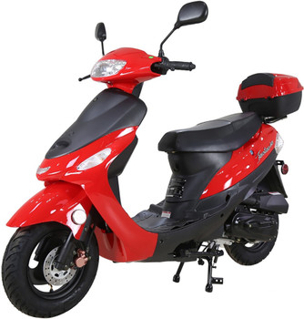 Nebula Red 50cc Scooter