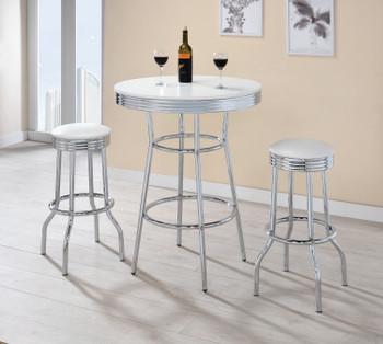 Bel Air White 3 Piece Bar Height Set