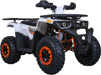 Grappler White N Orange 200CC ATV Adult Size