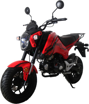 Raptor Red 125cc Motorcycle Scooter