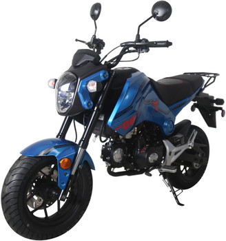 Raptor Blue 125cc Motorcycle Scooter