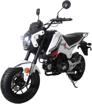Raptor White 125cc Motorcycle Scooter