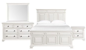 CONROE White 6-PC Bedroom