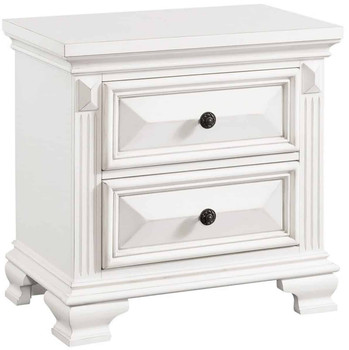 "Conroe 28"" Wide White Night Stand"