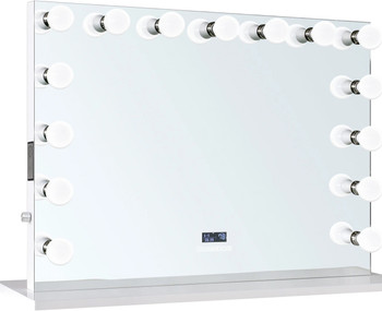 """Marilyn 46"""" Wide Vanity Mirror with LED Lights, USB Ports, Speakers"""