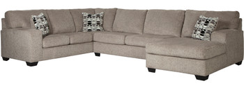 "KAVANA Taupe 144"" Wide Oversized Sectional"