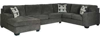 "KAVANA Gray 144"" Wide Oversized Sectional"