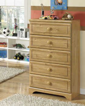 Ben Pine 5-Drawer Chest
