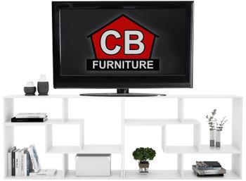 BAI White 87 Inch Wide TV Stand